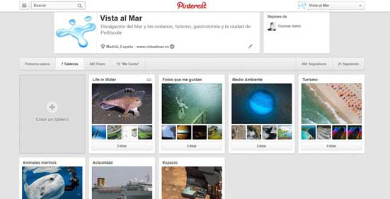 Nueva imagen de Pinterest - tableros