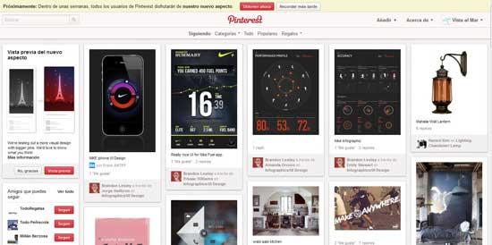 Nueva imagen de Pinterest - cambiar