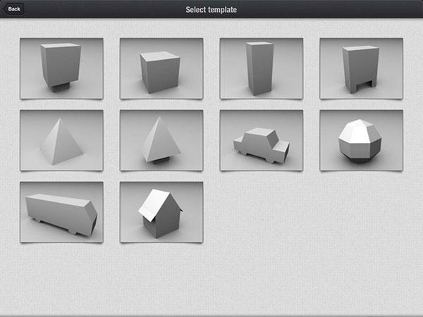 plantillas en 3D de Foldify