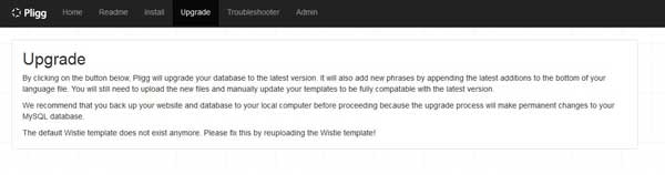 pligg upgrade template Wistie