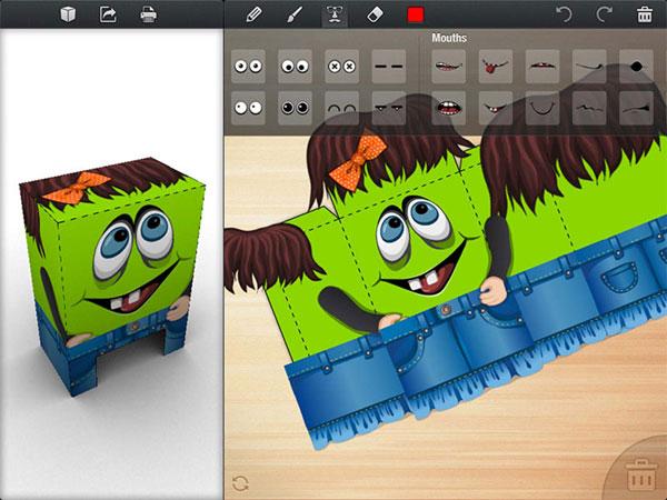 recortables en 3D con Foldify