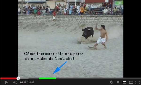 revolcón vaquilla Fiestas Peñíscola - Vídeo de Youtube cortado
