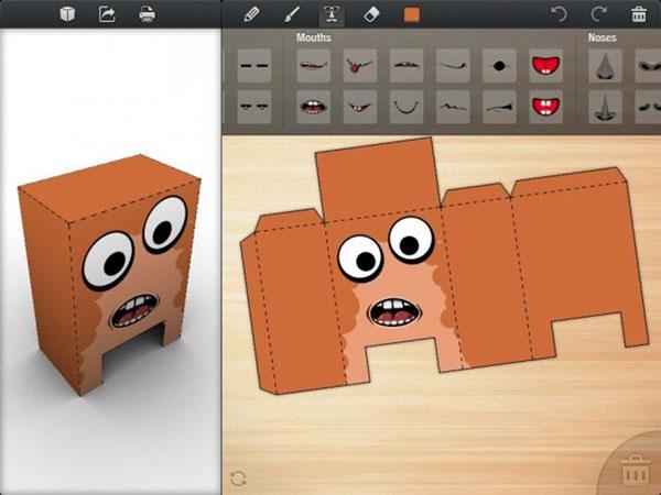 vista previa de los recortables 3D de Foldify