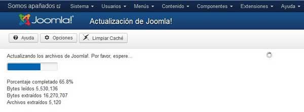 instalando actualización a Joomla 3.2
