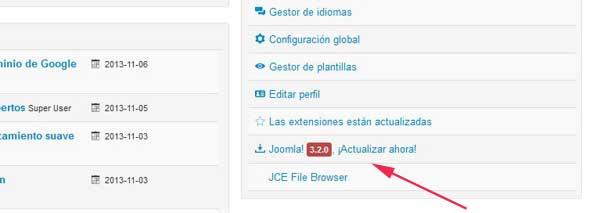 actualizar a Joomla 3.2