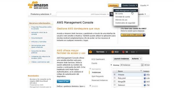 Amazon aws Consola