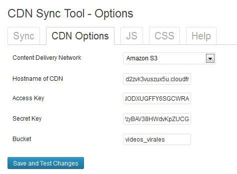 CDN Sync Tool cdn options