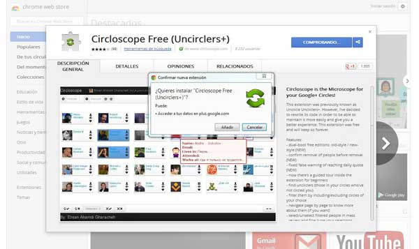 Circloscope Free, Google Chrome