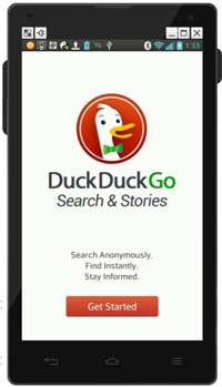 DuckDuckGo Search & Stories en el móvil