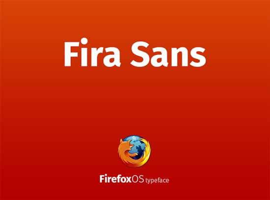 Fira Sans Firefox OS TypeFace