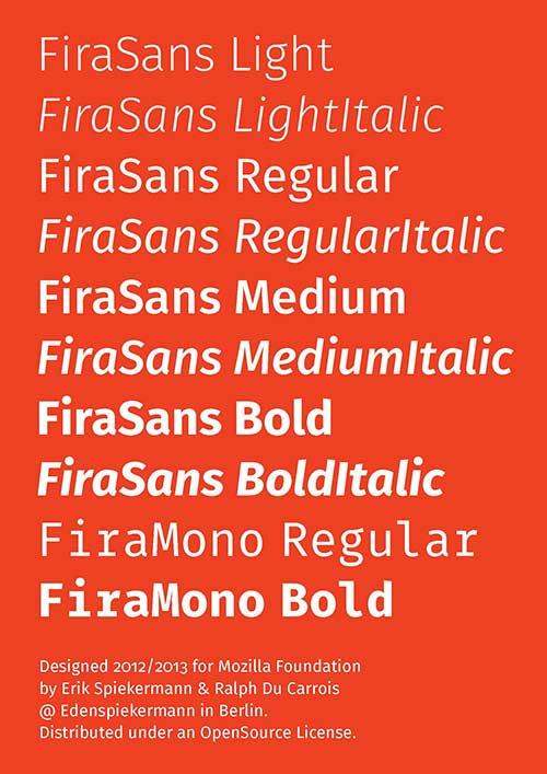 Fira Sans la fuente de Firefox OS