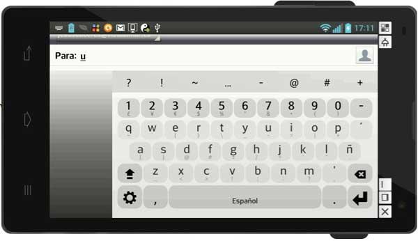 teclado Fleksy, Android