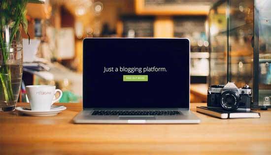 plataforma de blogger Ghost
