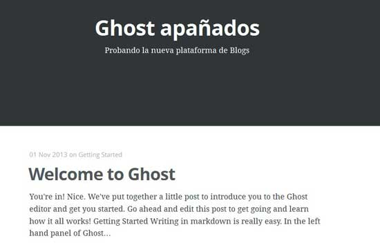 Ghost blog en producción