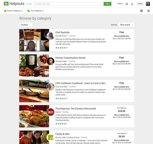 Google Helpouts, video chat pagado con expertos