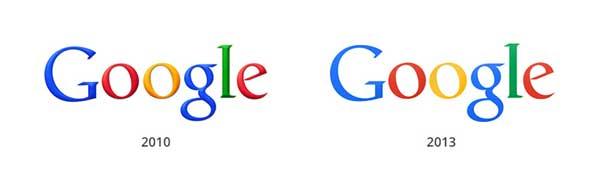 diferencias en los logos de Google