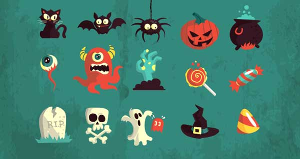 gráficos vectoriales para Halloween