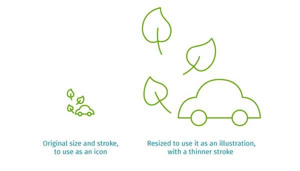 icono ecológico de coche