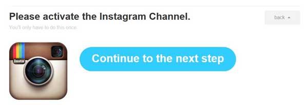 activar canal de Instagram para IFTTT