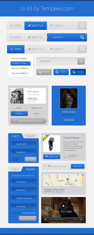kit de interfaz usuario gratis para diseñadores standard