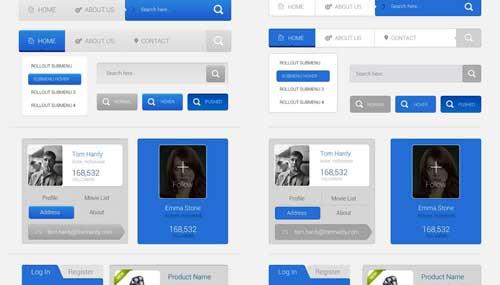 kit de interfaz usuario gratis para diseñadores