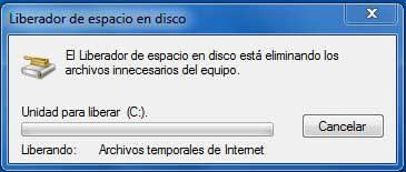 liberador de espacio de Windows eliminar archivos