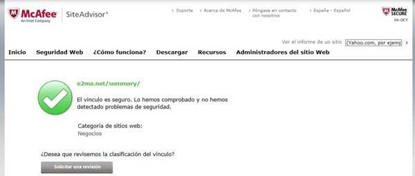McAfee SiteAdvisor e2.ma