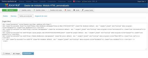 módulo Joomla para modificar element.style