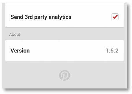Pinterest personalización Android
