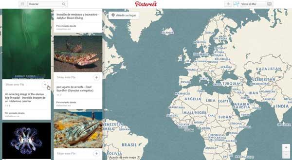 Pinterest, Pines de lugar, situar Pin en el mapa