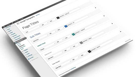 plugin Google typography para Wordpress