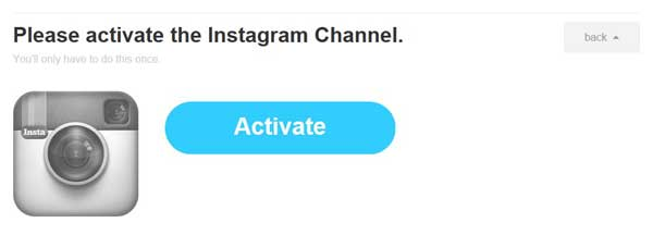 receta IFTTT, activar canal Instagram