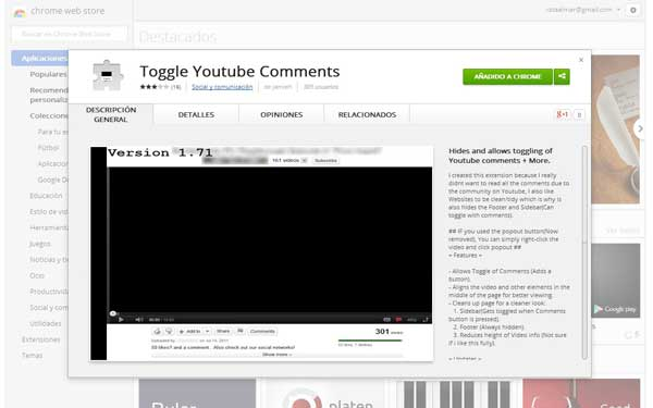 Toggle Youtube Comments