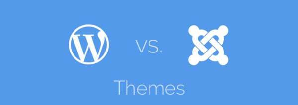 WordPress vs Joomla, temas
