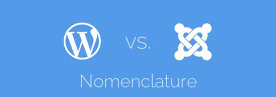 WordPress vs Joomla! - Nomenclatura