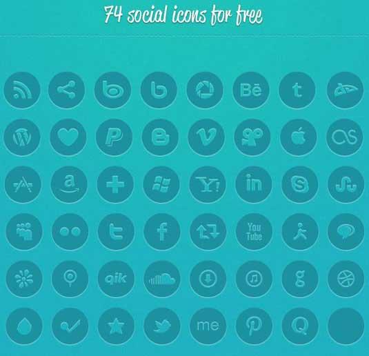 74 iconos sociales
