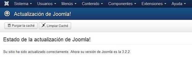actualización a Joomla 3.2.2 fin