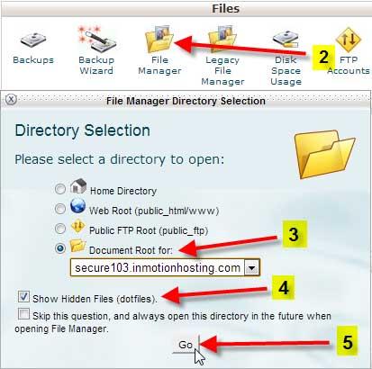 administrador de archivos ocultos, buscar .htaccess