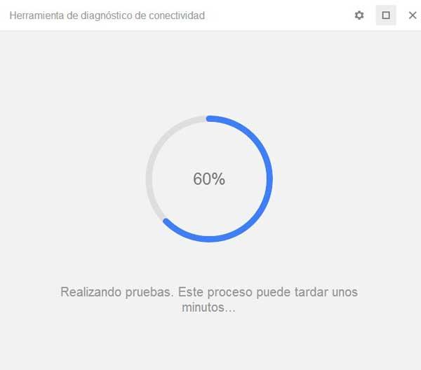 Chrome, prueba de conectividad de Internet