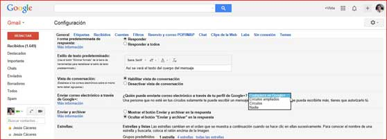 Enviar correo electrónico a través de Google+