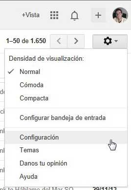gmail configuración