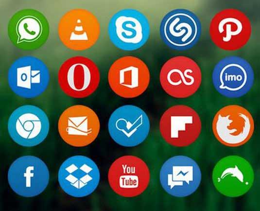 iconos circulares