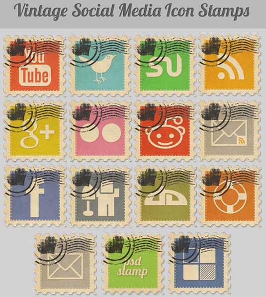 iconos de sellos de correos