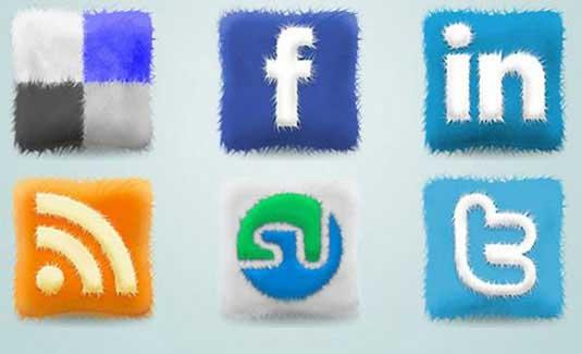 iconos sociales peludos