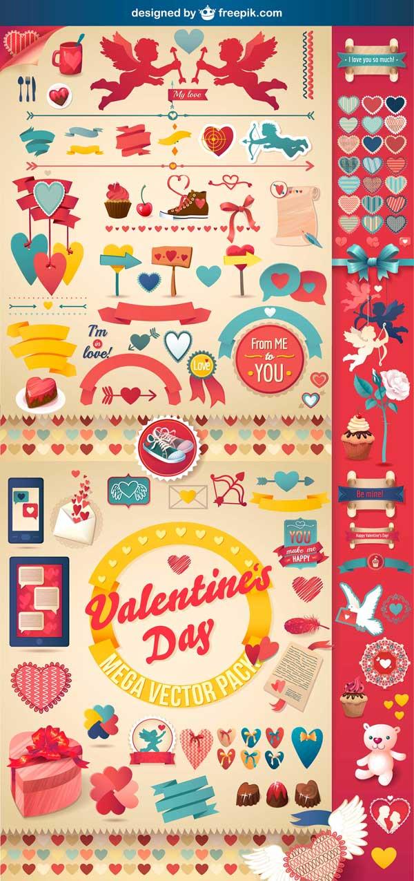 iconos vectoriales San Valentín gratis