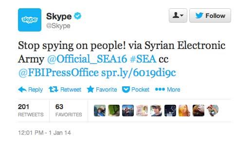 El Twitter, Facebook y el blog de Skype hackeados por el SEA