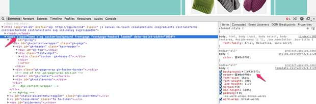 background HTML