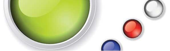 botones y elementos de diseño