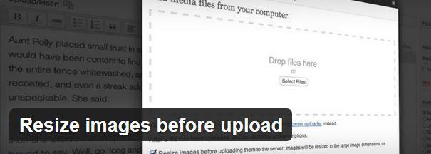 Cambiar el tamaño de las imágenes antes de subida