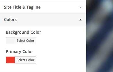 color primario, personalizador de tema WordPress